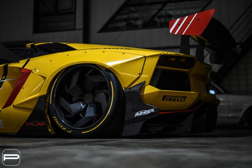 Liberty Walk Lamborghini Aventador with PUR LX12.V2 Wheels by Infinite Motorsports