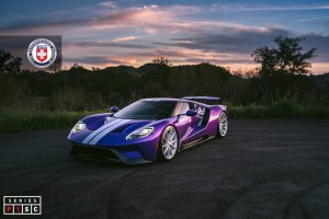 Ford GT with HRE P104SC wheels
