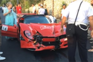 Friday FAIL: Ferrari F50 Cavalcade Crash