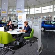 New car showroom
