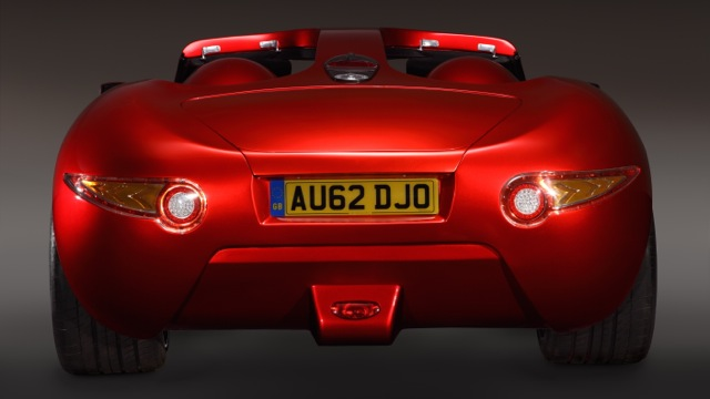 Iceni candy red rear