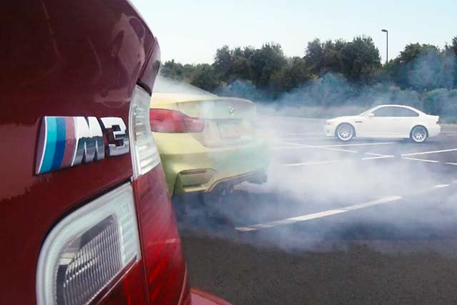 BMW M4 launch drift