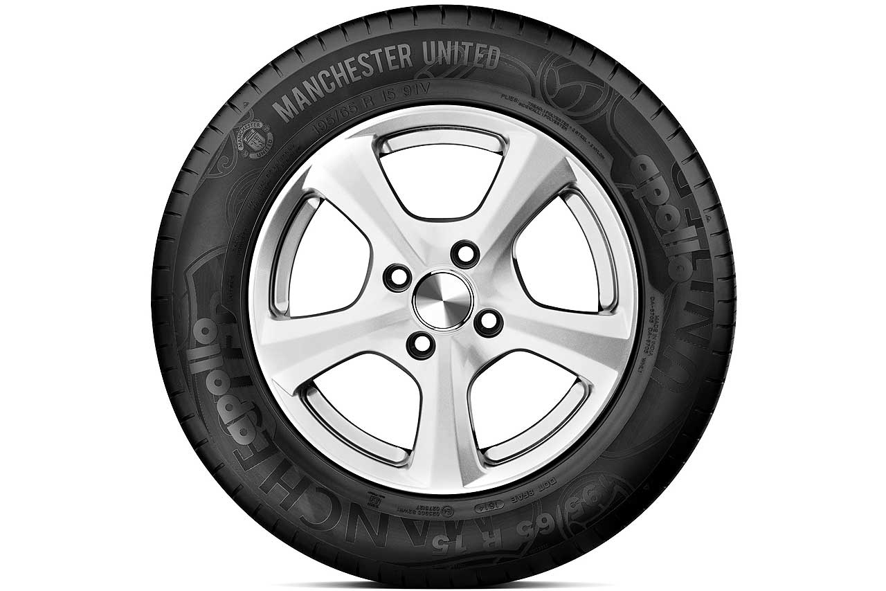 Manchester United car tyre