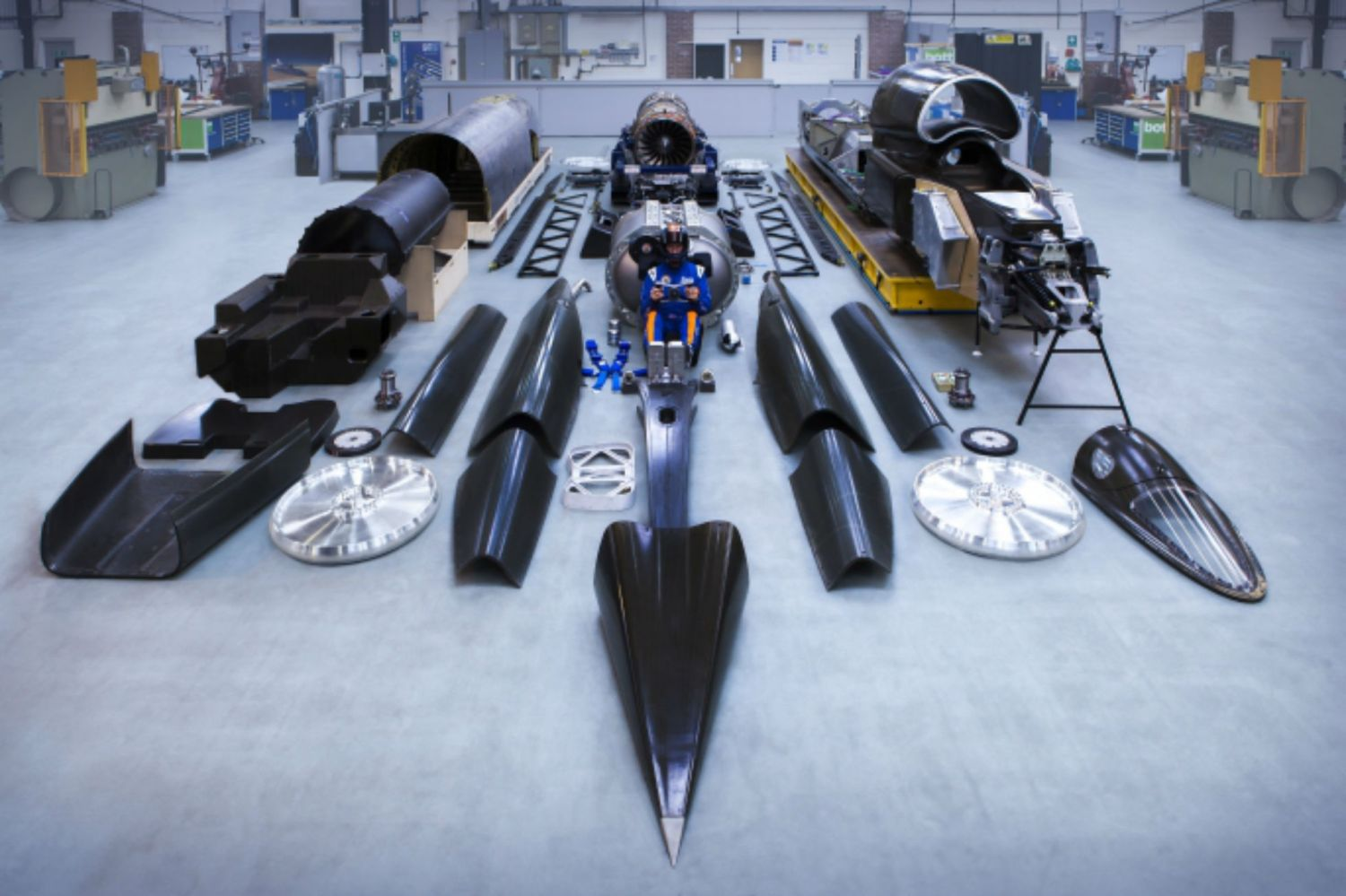 Revealed: the parts that go into the 1,000mph Bloodhound SSC