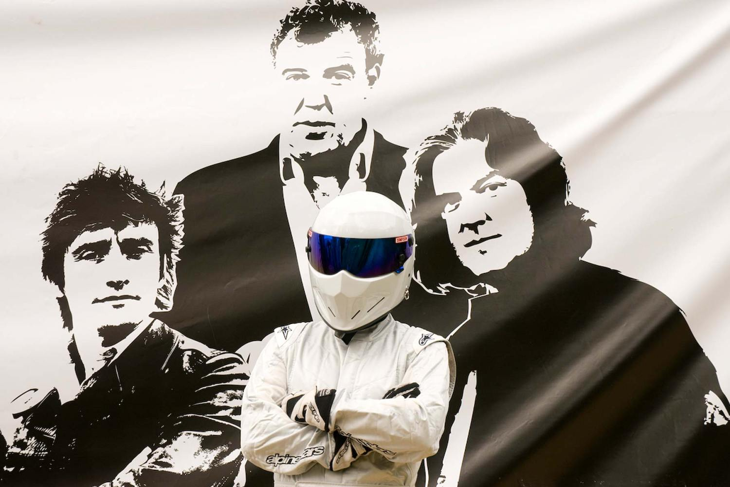 Top Gear presenters and The Stig