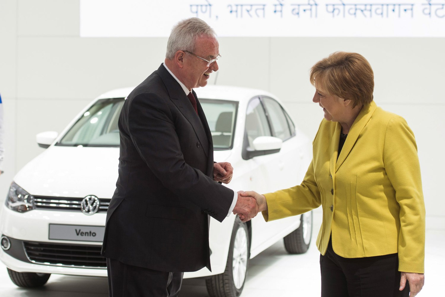 Martin Winterkorn and Angela Merkel