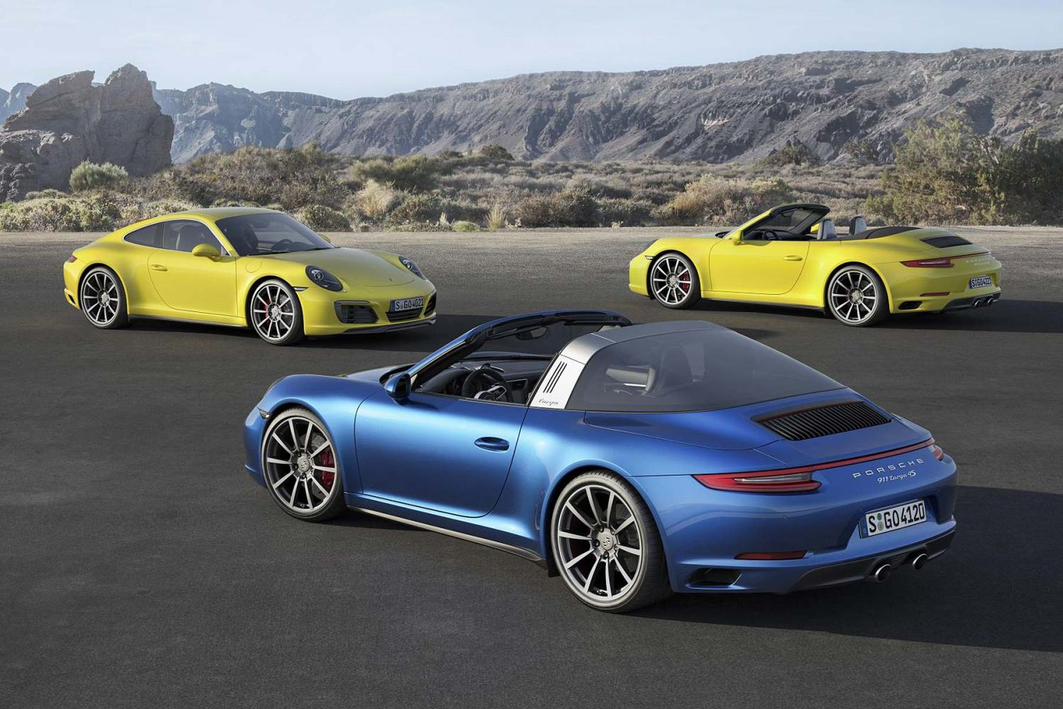 Porsche Carrera 4 and Targa 4 turbo