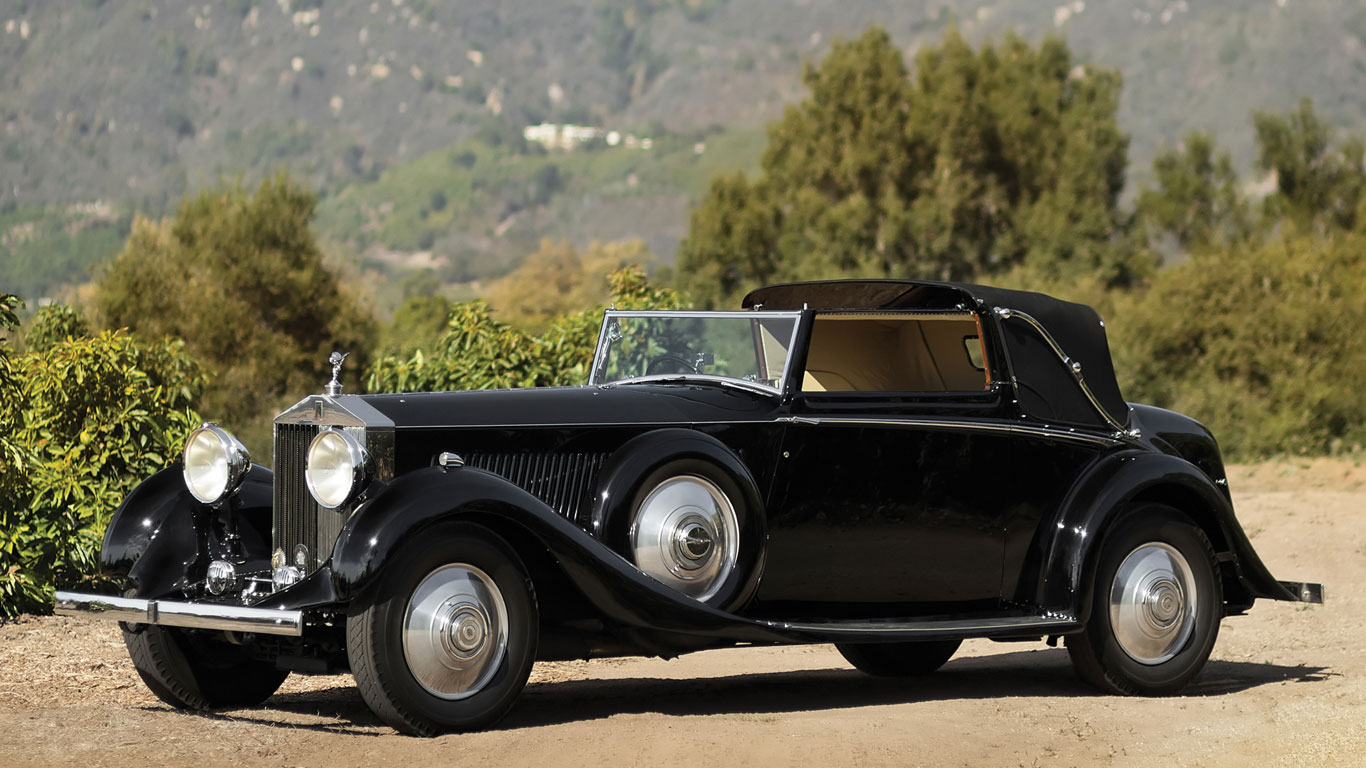 1934 Rolls-Royce Phantom II Continental Drophead Sedanca Coupe: 498% growth