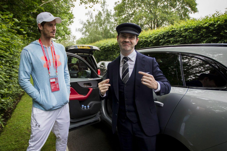 Video: secret chauffeur Jimmy Carr surprises Andy Murray in a Jaguar F-Pace