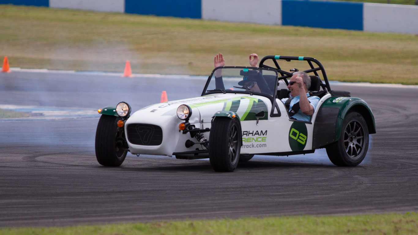 Caterham drifting