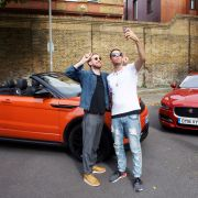 Kaiser Chiefs star Ricky Wilson and Example test new in-car Spotify app