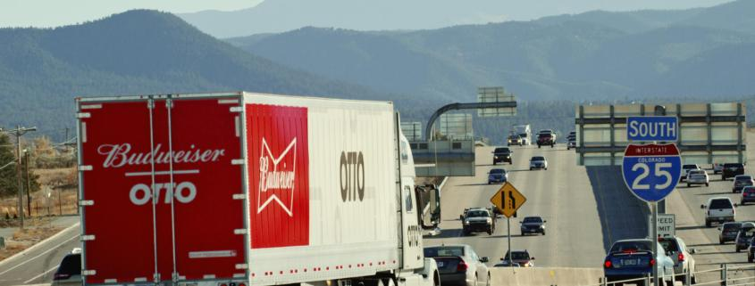 Driverless truck lugs trailer full of Budweiser for 120 miles