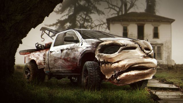 Halloween horror cars