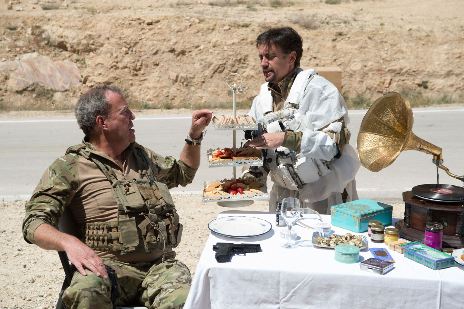 The Grand Tour hosts go commando in episode 2: Operation Desert Stumble