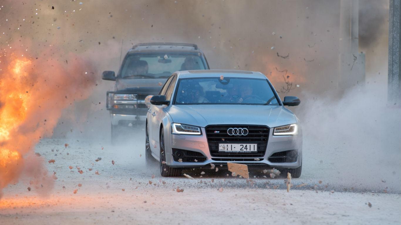Audi S8 Plus in Jordan