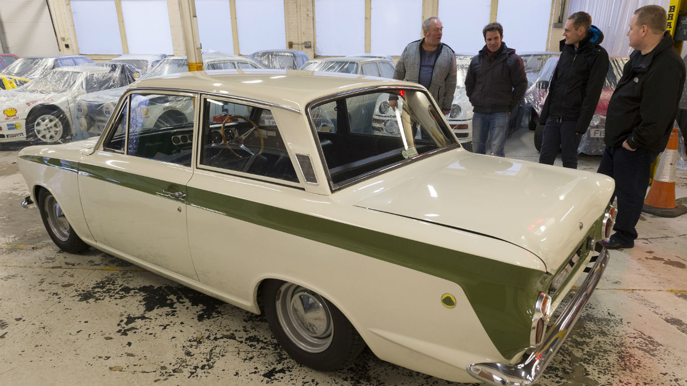 Ford Lotus Cortina TV star reunited with owner 40 years on