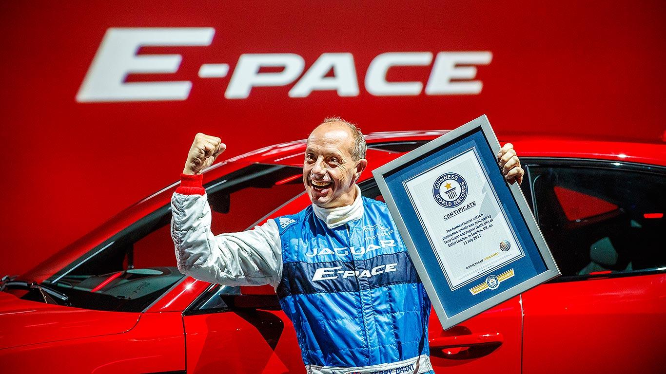 Jaguar E-Pace in record-breaking barrel roll