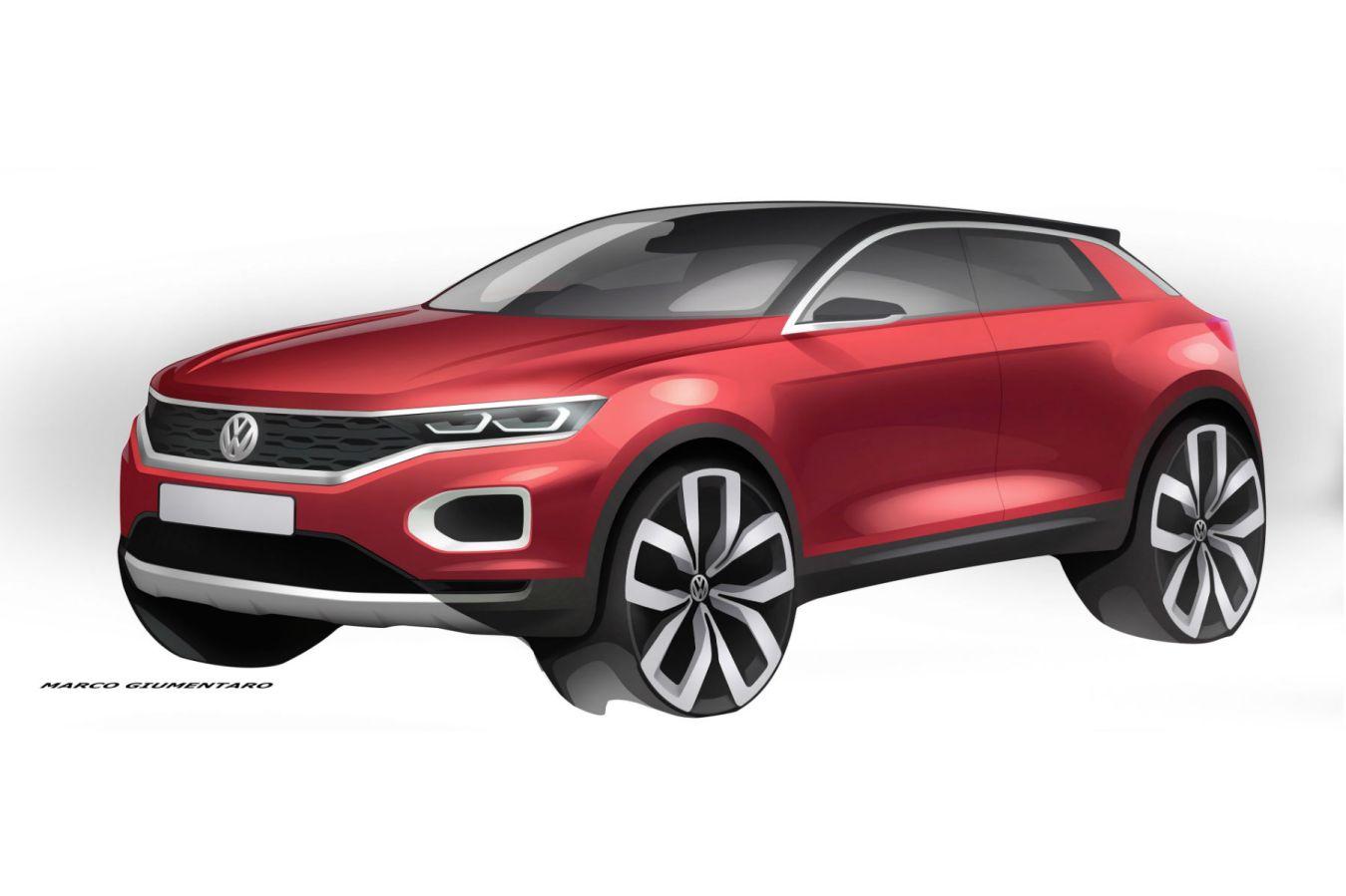 Volkswagen T-Roc teased ahead of next week's debut