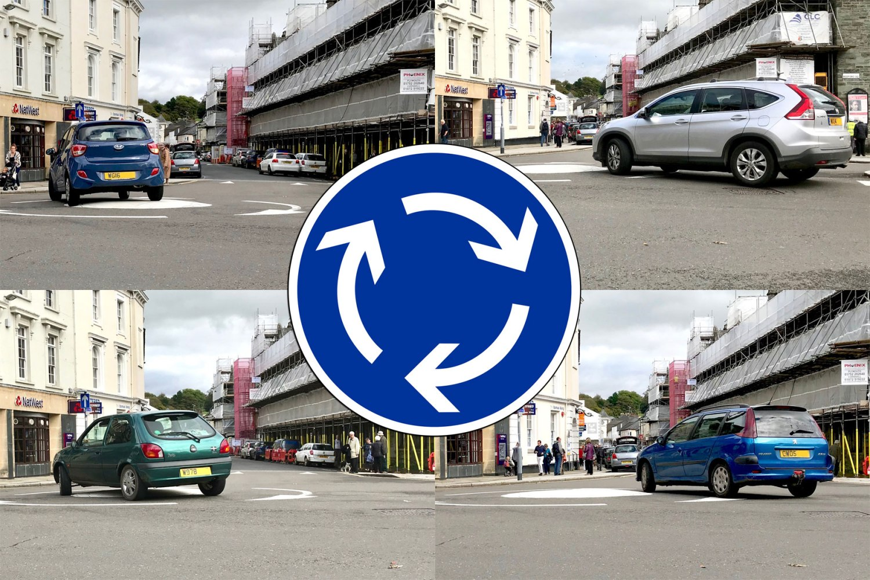 Roundabout in Tavistock