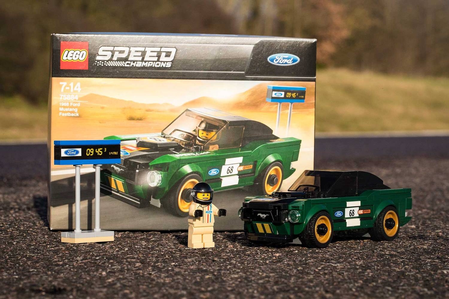 Ford Speed Champions Lego 1968 Mustang Fastback