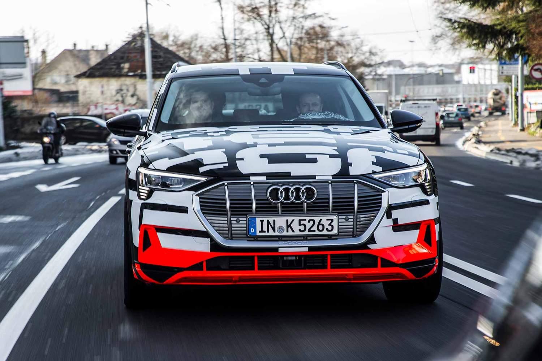 The new 2018 Audi E-Tron EV SUV