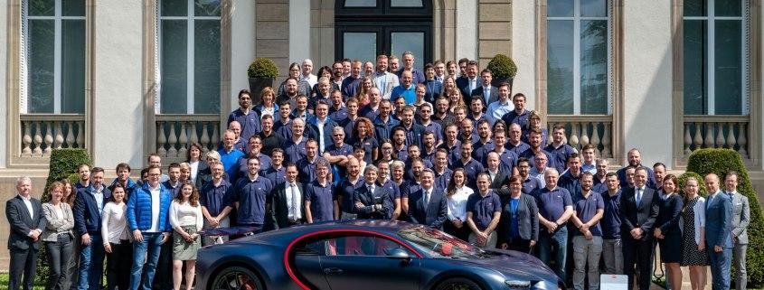 Bugatti Chiron number 100