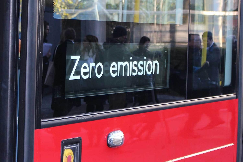 Zero emission London bus