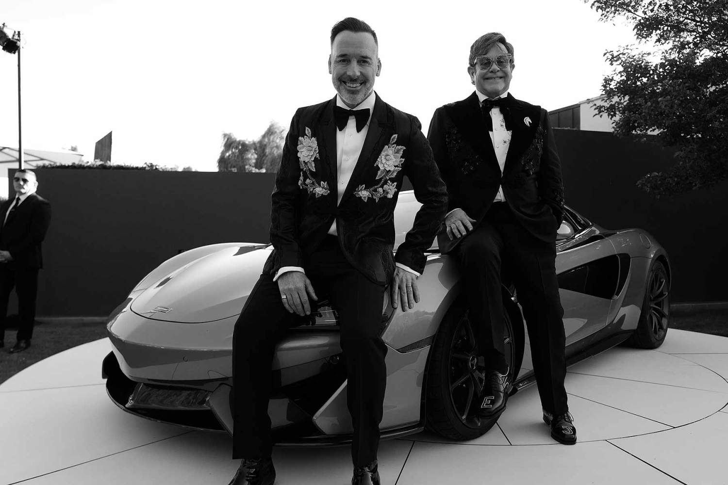 David Furnish and Elton John at the Argento Ball