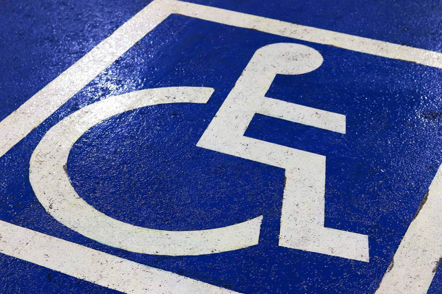 Disabled parking bay logo