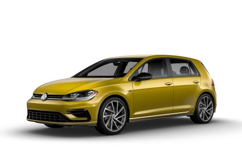 2019 VW Golf R Curry Yellow