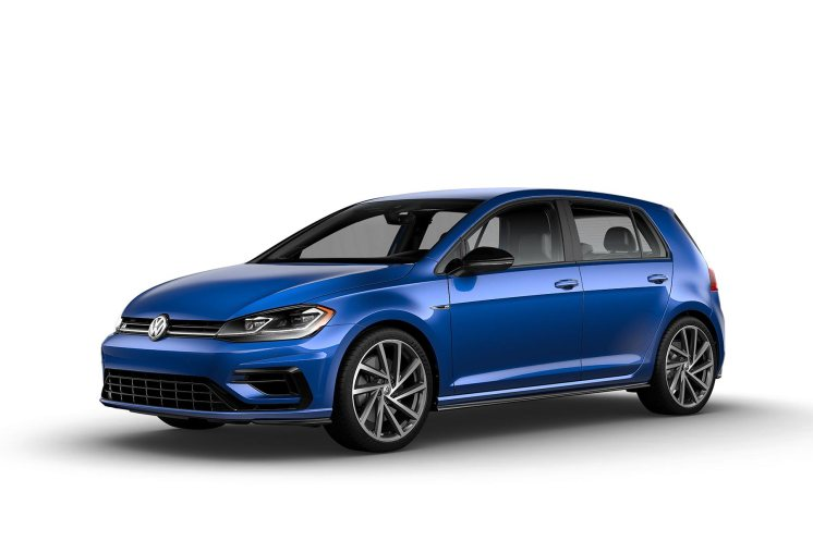 2019 VW Golf R Jazz Blue Pearl