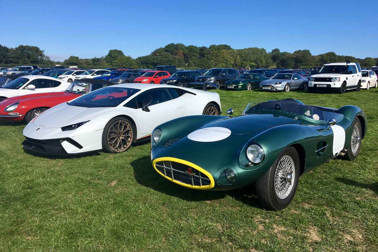Amazing cars of the Goodwood Revival car park
