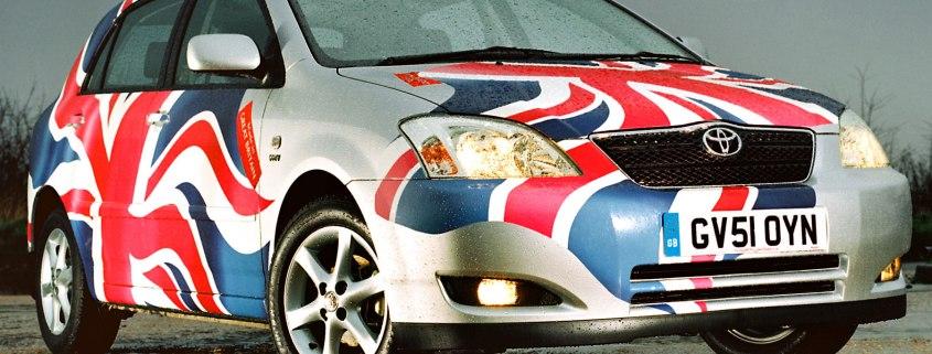 Toyota Corolla Union Flag