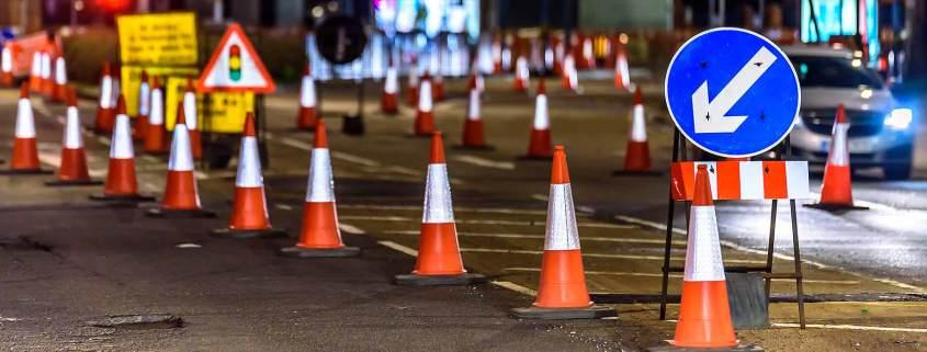 UK city centre roadworks