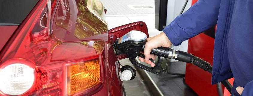 UK fuel station forecourt