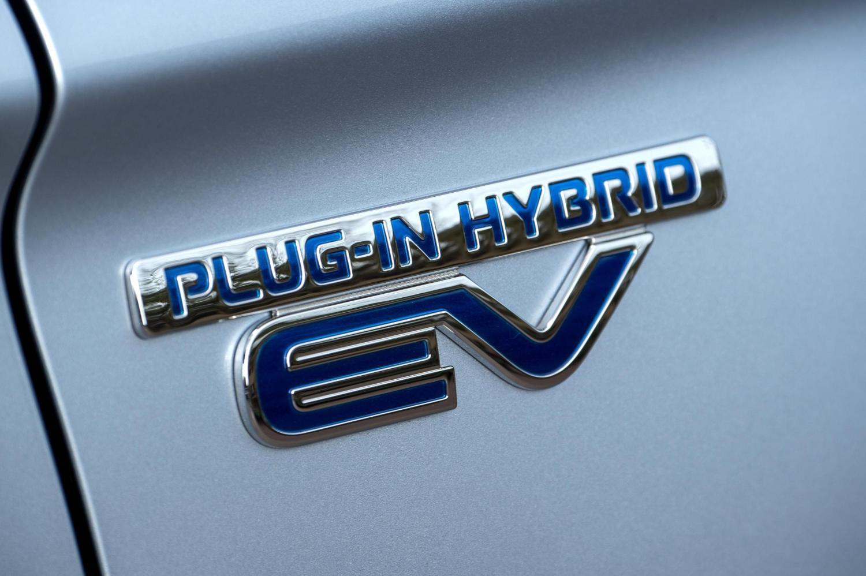 Mitsubishi Outlander PHEV plug-in hybrid badge
