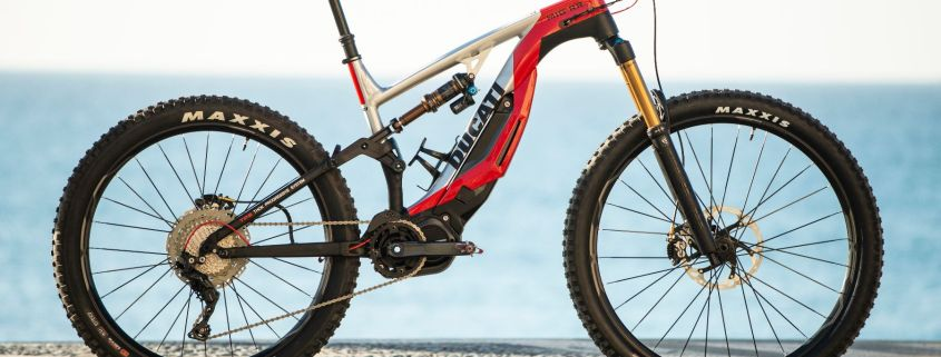 Ducati e-bike full side view