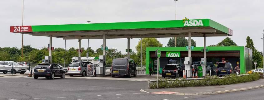 Asda fuel petrol filling station