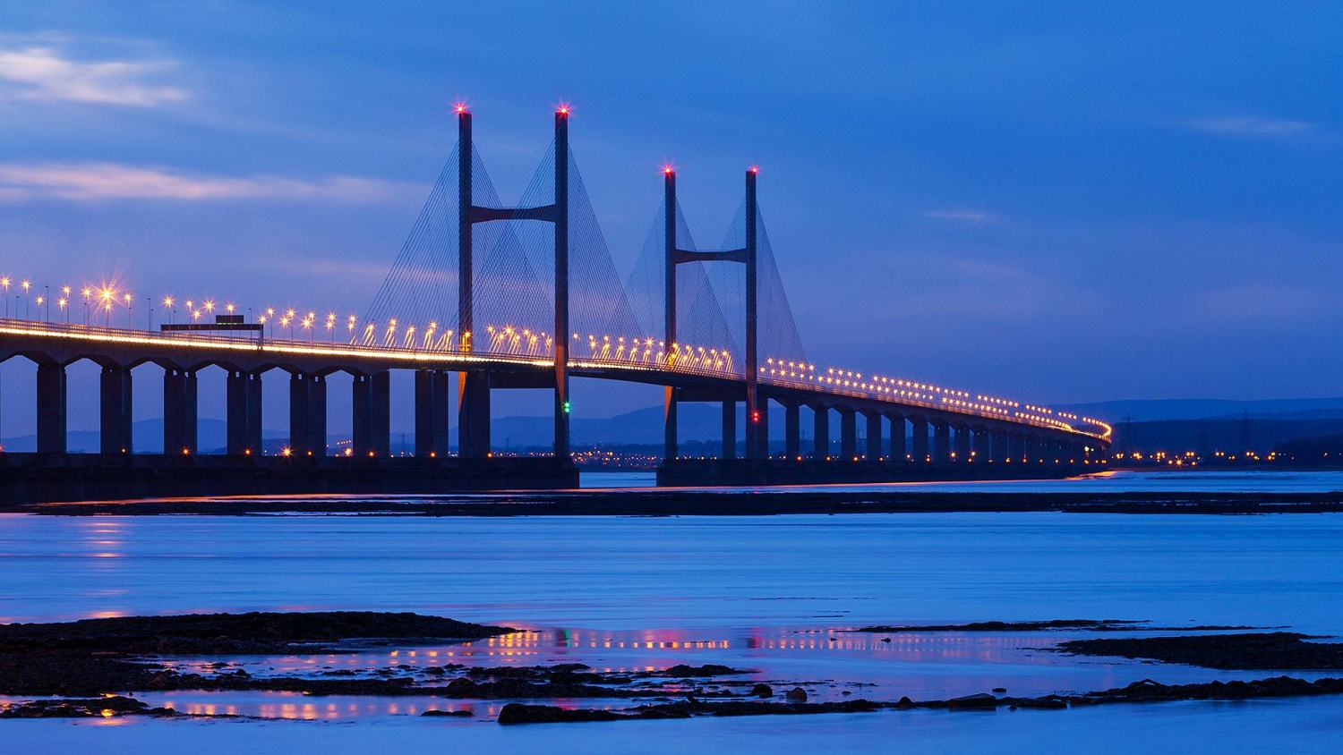 Severn Crossing at night