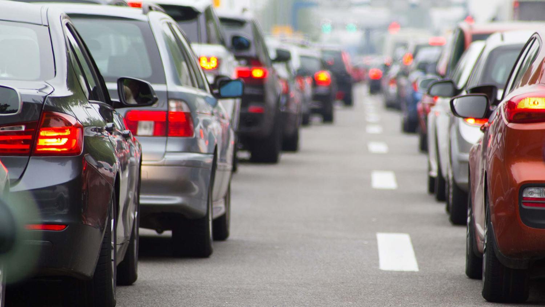 Motorists stuck in traffic congestion