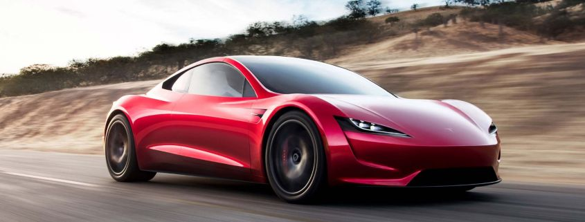 Tesla Roadster fly Space X