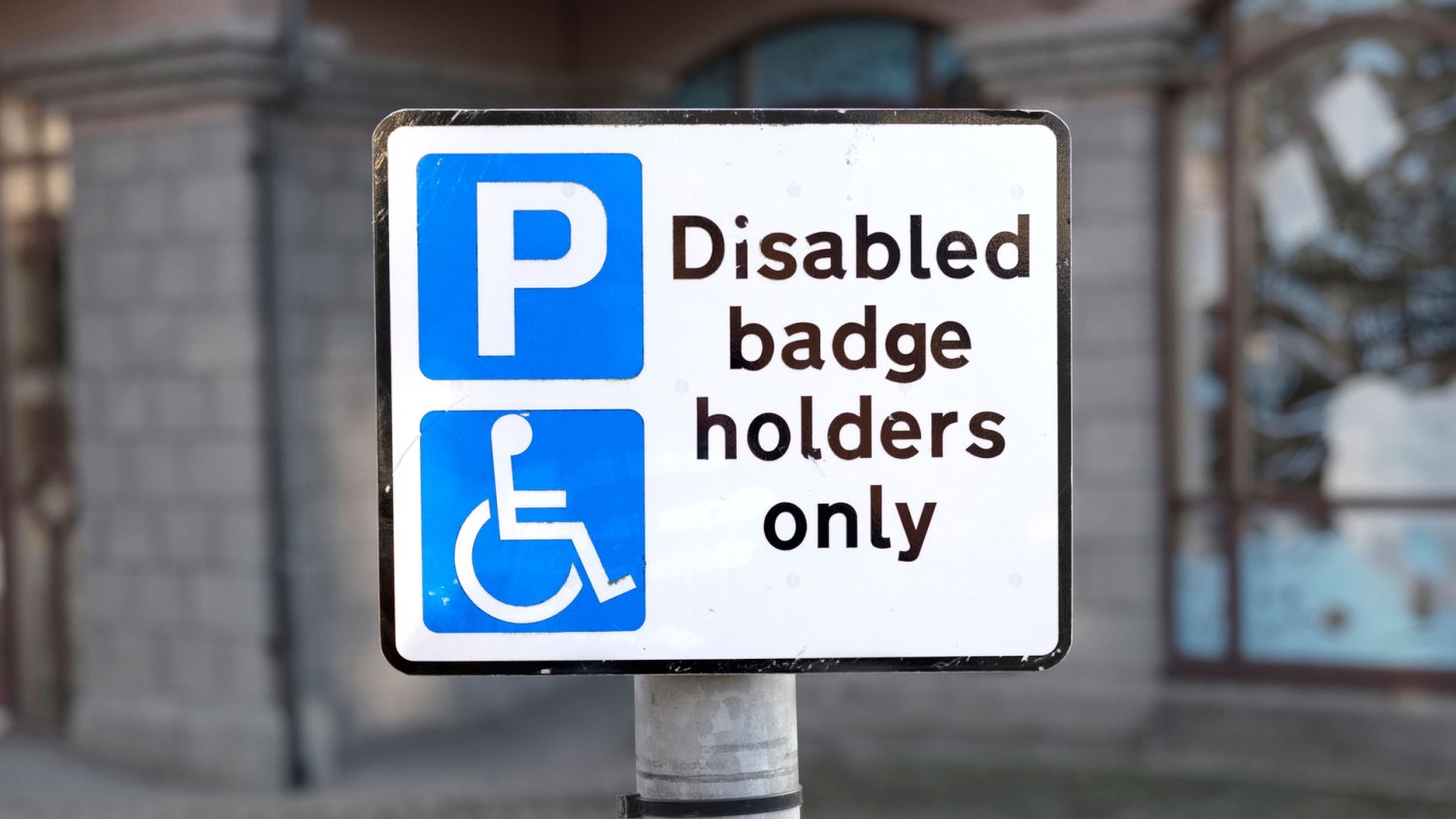 Disabled Blue Badge holders only