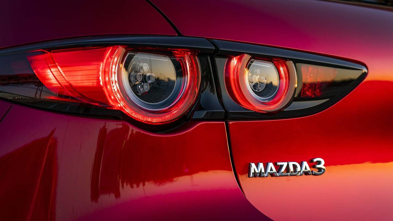 Mazda3 hatchback in Soul Red
