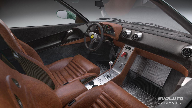 Evoluto Ferrari 348 cabin