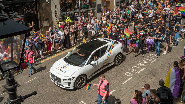 Jaguar I-Pace at Birmingham Pride 2019