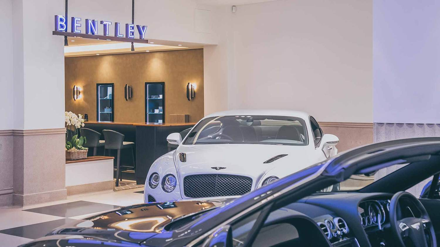 London supercar dealer showroom