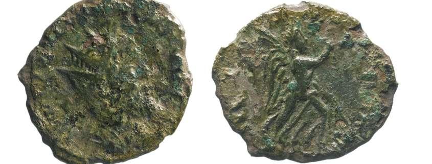 Roman coin found under A14