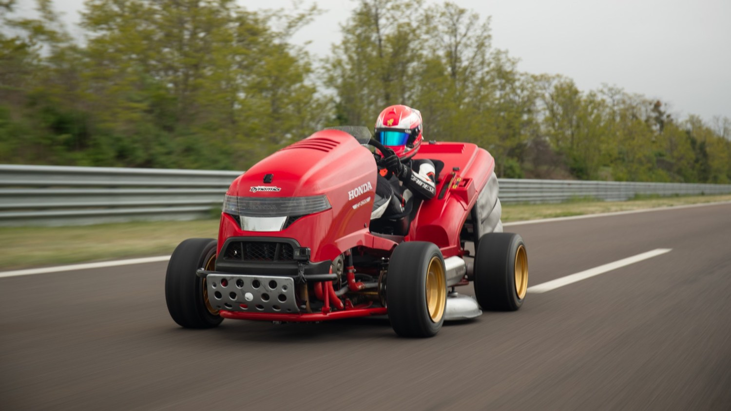 Honda's Mean Mower is the fastest lawnmower in the world