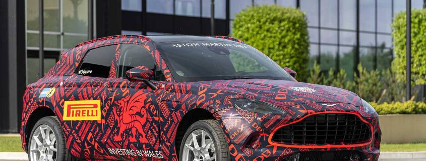 Aston Martin DBX Welsh wrap