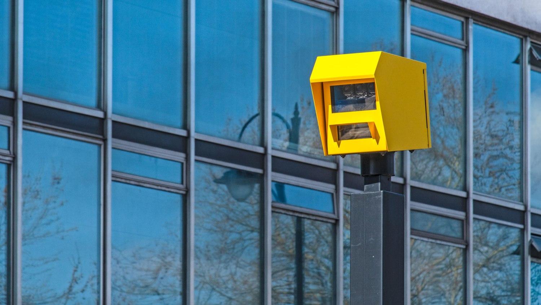 Speedcurb camera on Millbank in Westminster
